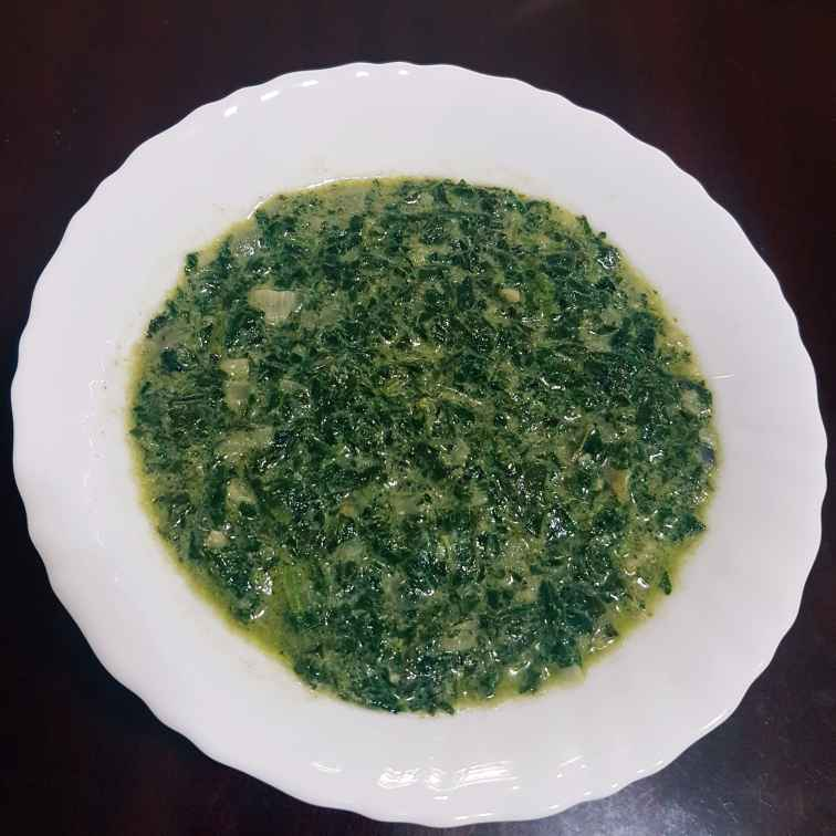 Photo of Spinach in Coconut Milk by Shaima Fathima at BetterButter