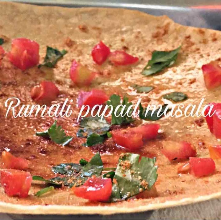 How to make Rumali masala papad