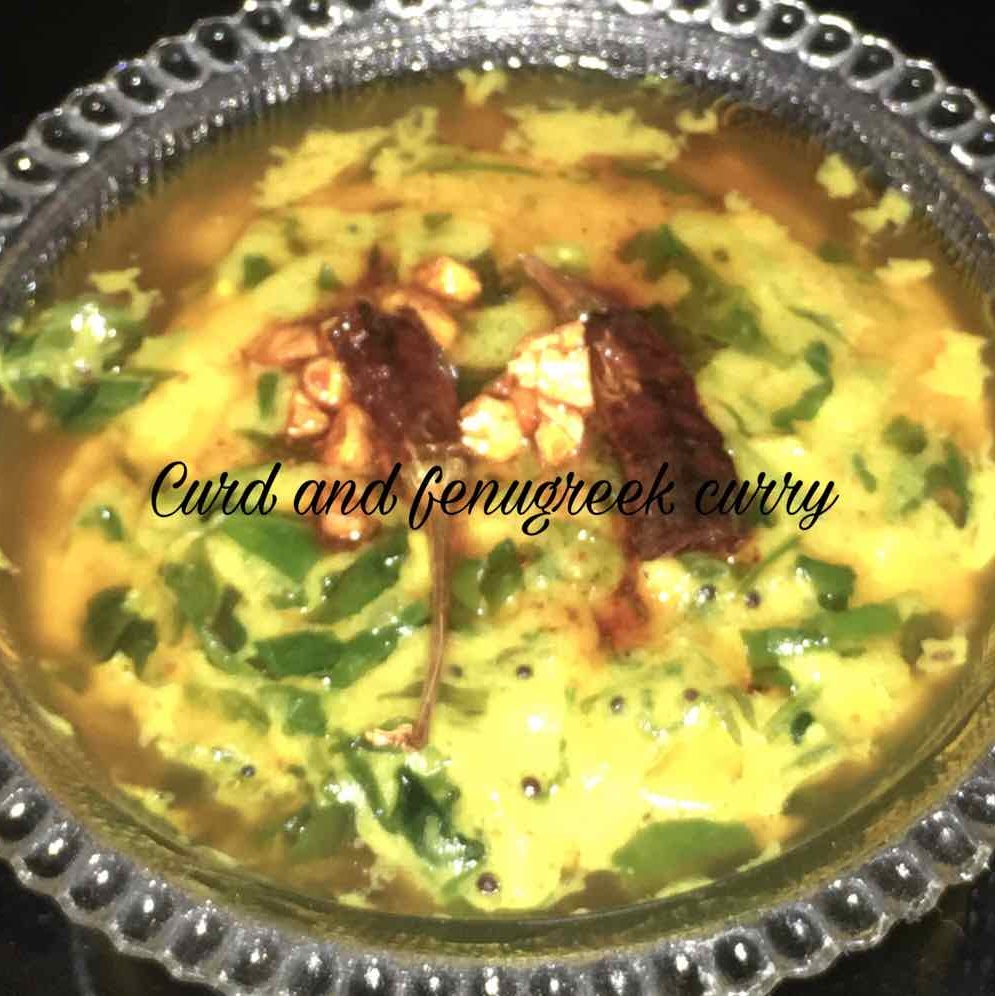 How to make Curd and fenugreek curry