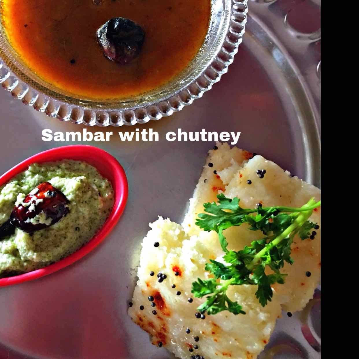 How to make Sambar with chutney and Dhokla