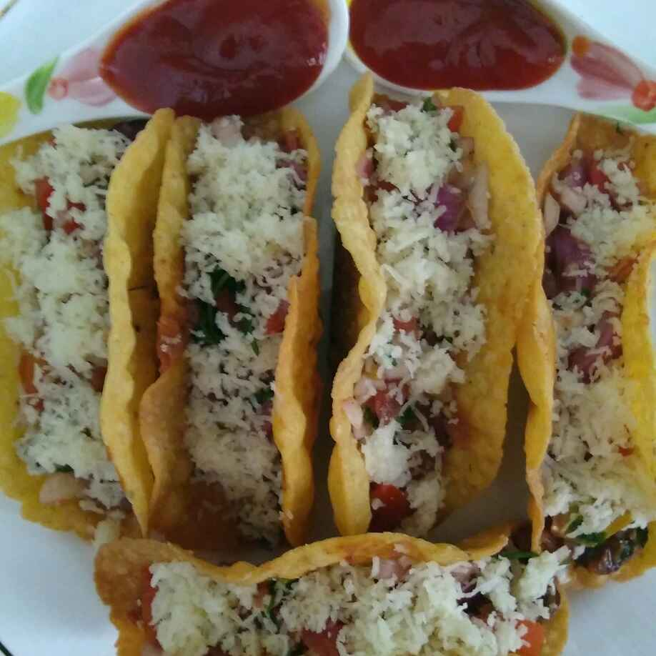 How to make Veg mexican beans tacos