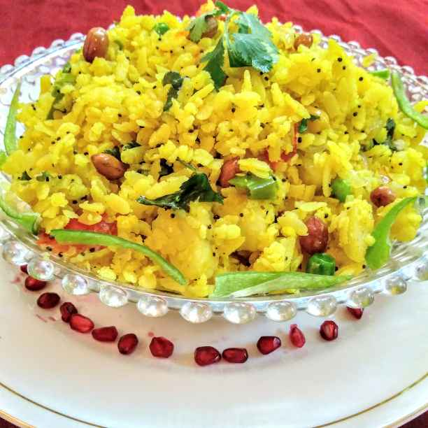 How to make Indian flattened rice dish( poha)