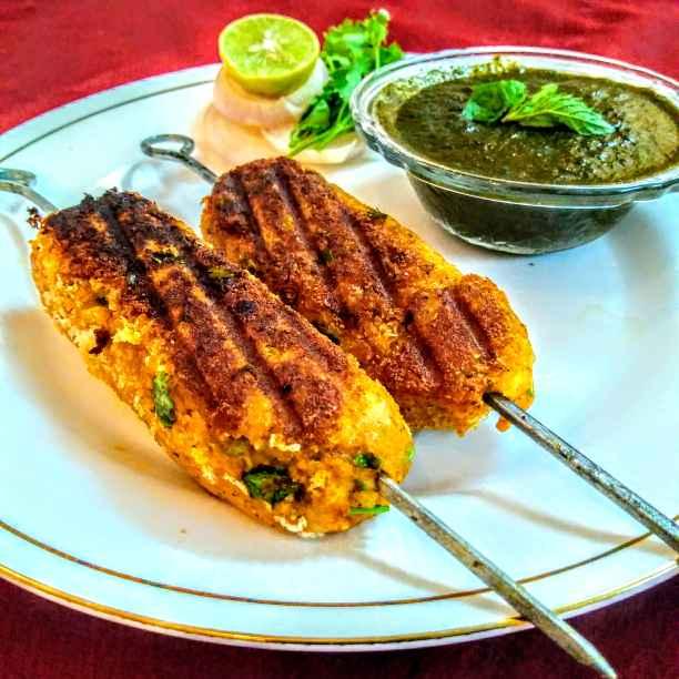 How to make Veg seekh kebab