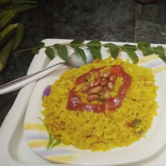 Photo of Kanda tomato poha by Shalini Ahuja at BetterButter