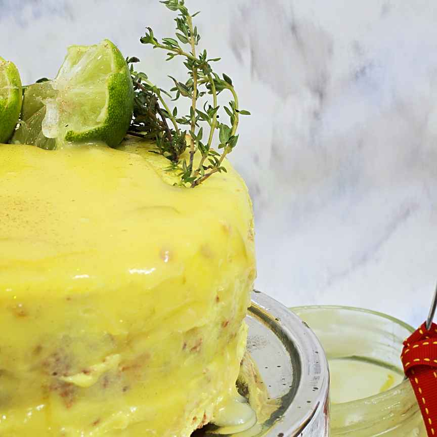 Photo of Lemon Vodka CaKe with Thyme and Lemon Curd by Shalini Digvijay at BetterButter