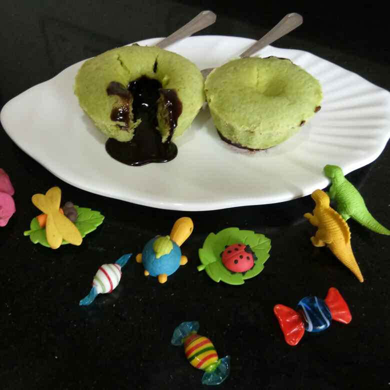 Photo of Pistachio Molten Lava Cup Cake by Shampa Das at BetterButter