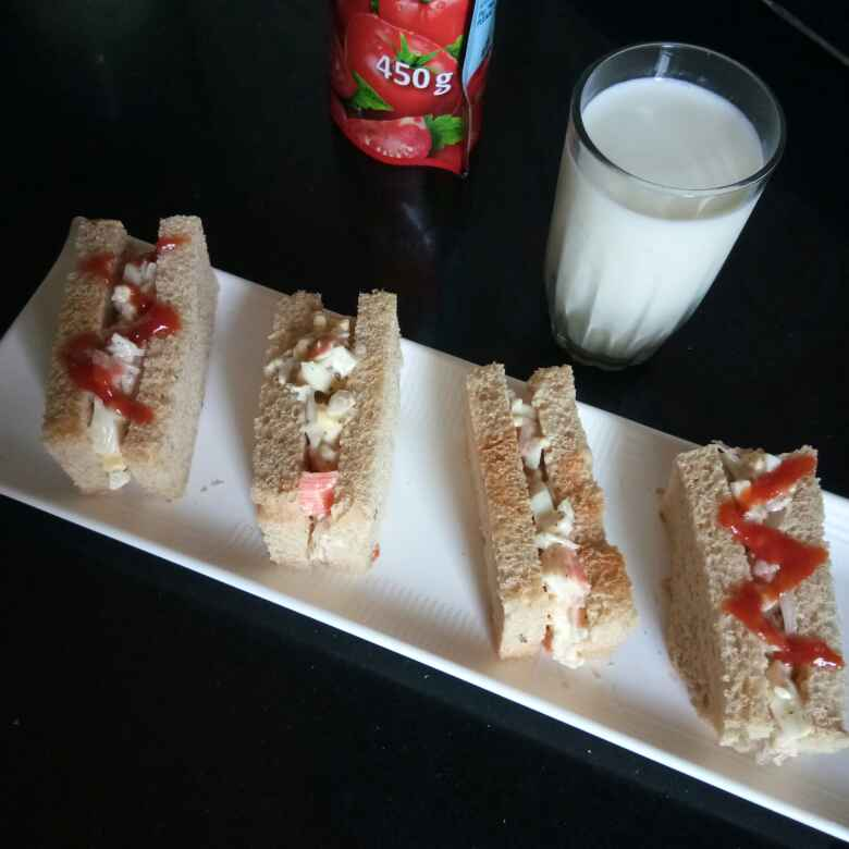 Photo of Egg crab stick sandwich by Shampa Das at BetterButter