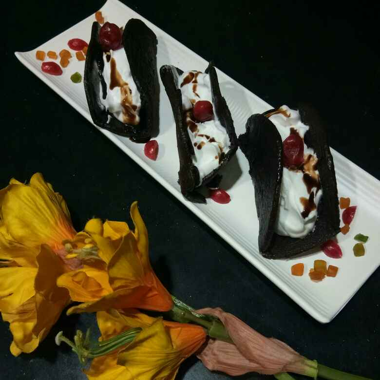 Photo of Chocolate Omelette Cake With Cream Frosting by Shampa Das at BetterButter