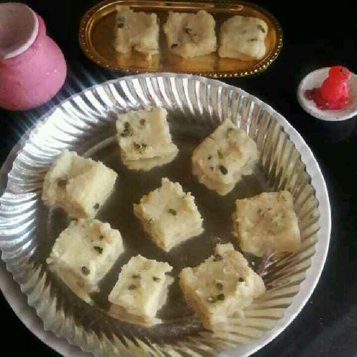 How to make Rava barfi