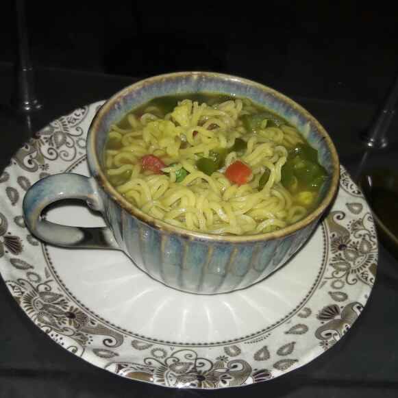 How to make Vegetable soupy maggie
