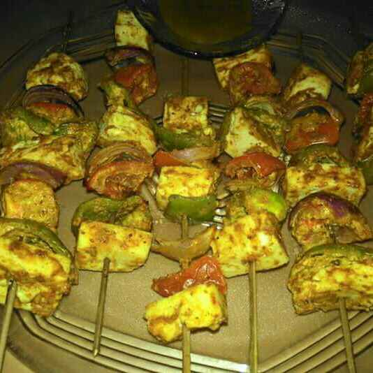 Photo of Paneer tikka in microwave by Shaoly Das Roy at BetterButter