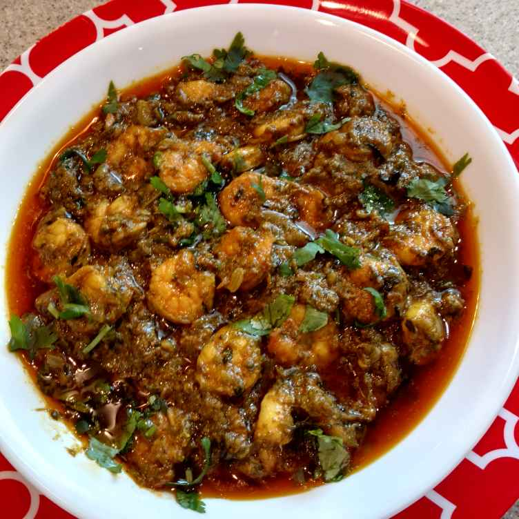 Photo of Prawns curry with Chukka leaves, Katta Spinach prawns curry by Sharada Dharanikota at BetterButter