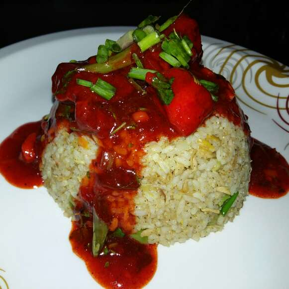 How to make chicken manchurian rice