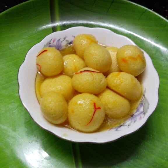 How to make কেশরী রসগোল্লা