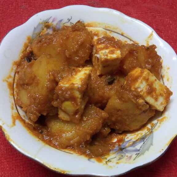 Photo of Aloo paneer er dom by Sharmila Dalal at BetterButter