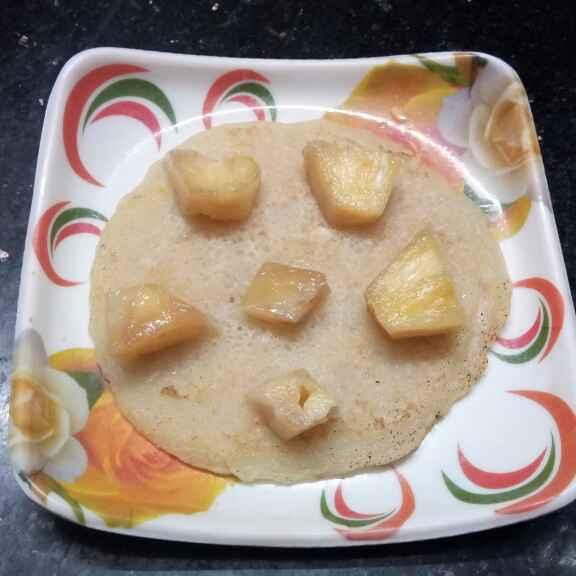 Photo of pineapple pancake by Sharmila Dalal at BetterButter