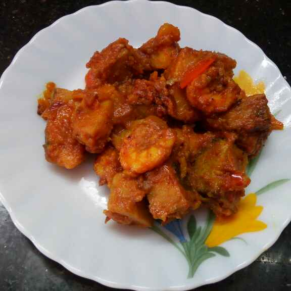 How to make ওল চিংড়ি