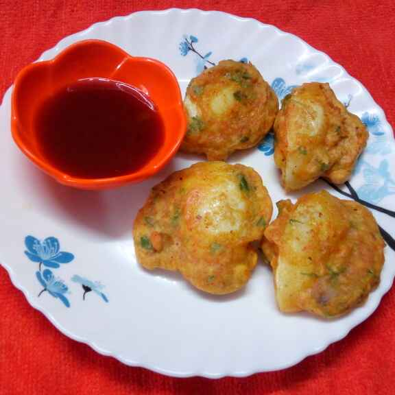 How to make এগ পকোড়া