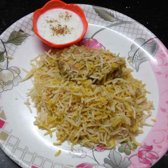 Photo of Chicken biryani ar raita by Sharmila Dalal at BetterButter