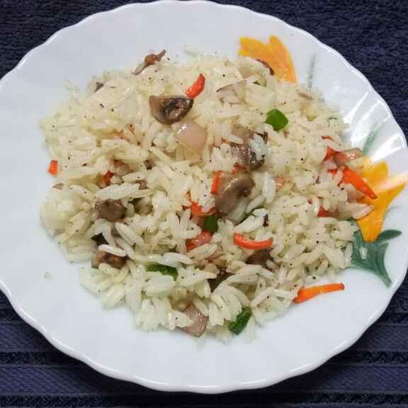 Photo of Mushroom rice by Sharmila Dalal at BetterButter