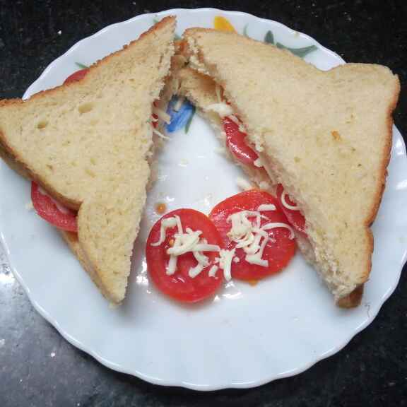 Photo of Tomato cheese sandwitch by Sharmila Dalal at BetterButter