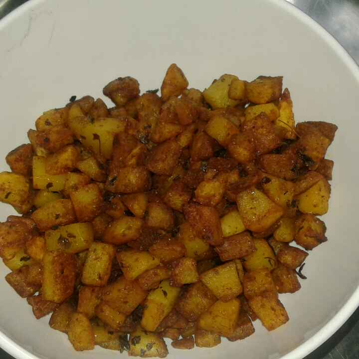 How to make Spicy aloo fry