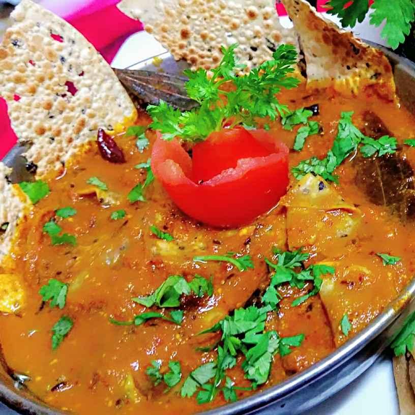 How to make Papad Sabji