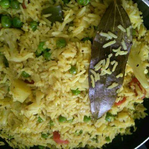 How to make सब्जी पुलाव