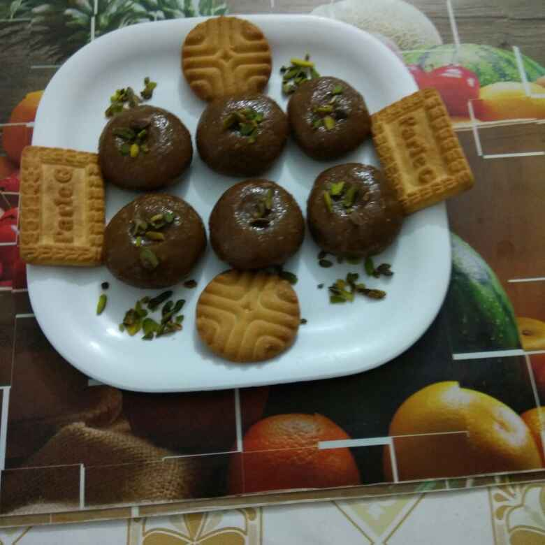 Photo of Leftovers biscuits peda by Shashi Pandya at BetterButter