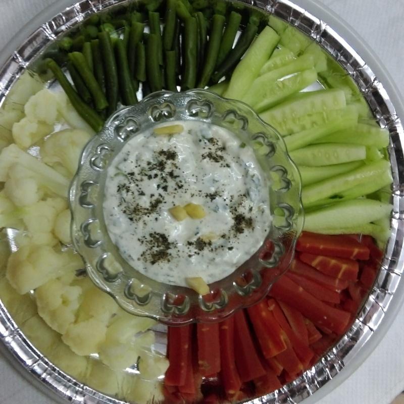 How to make Curd Dip  Veg Platter