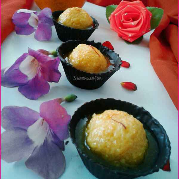How to make Orange Rasagolla served in chocolate cup