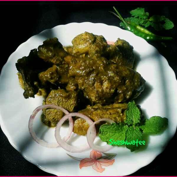 Photo of Hyderabadi green chicken by Shashwatee Swagatica at BetterButter