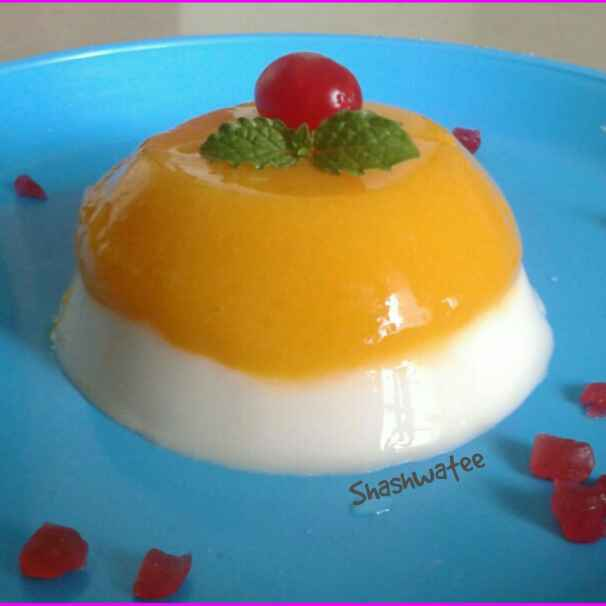 How to make Mango vanilla panna cotta