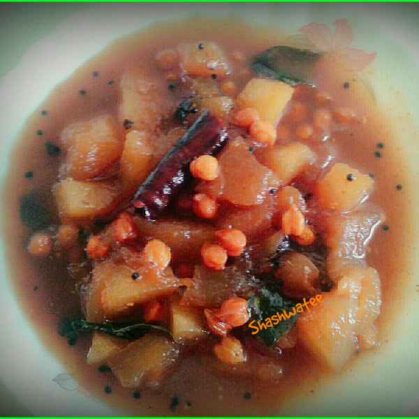 How to make Pani kakharu sakara (Chatpata petha kaddu/Ashgourd in sweet and sour gravy)