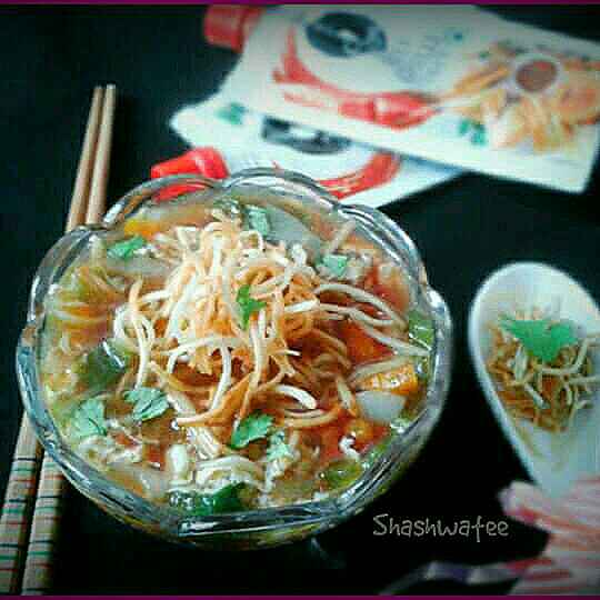Photo of Chicken manchow soup by Shashwatee Swagatica at BetterButter