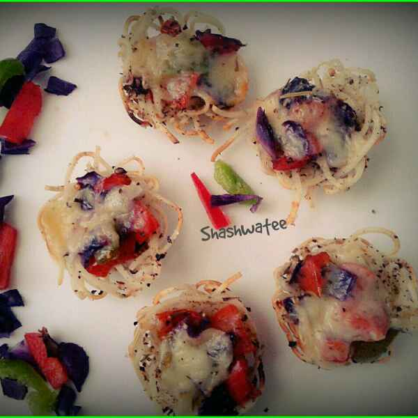 Photo of Mini pizza nests by Shashwatee Swagatica at BetterButter