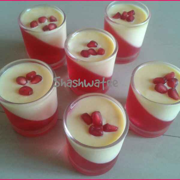 How to make Custard Jelly Pudding