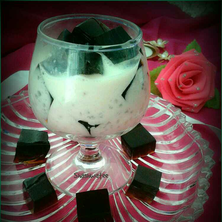 How to make Coffee jelly tapioca pudding