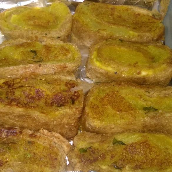 Photo of Pinwheel Potato Cheese Sandwich for Kids Lunch Box by Sheena Omana Narayanan at BetterButter