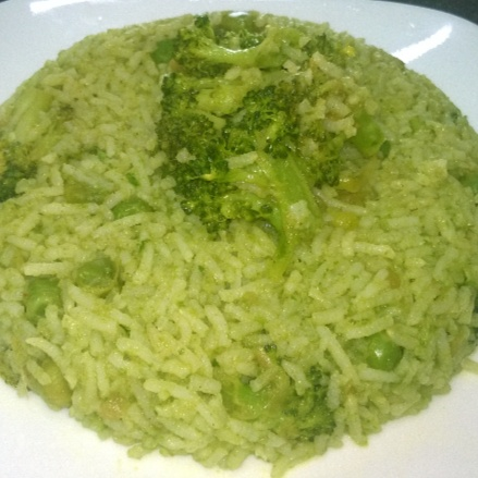 How to make Green Veggie Biryani (Kid friendly)