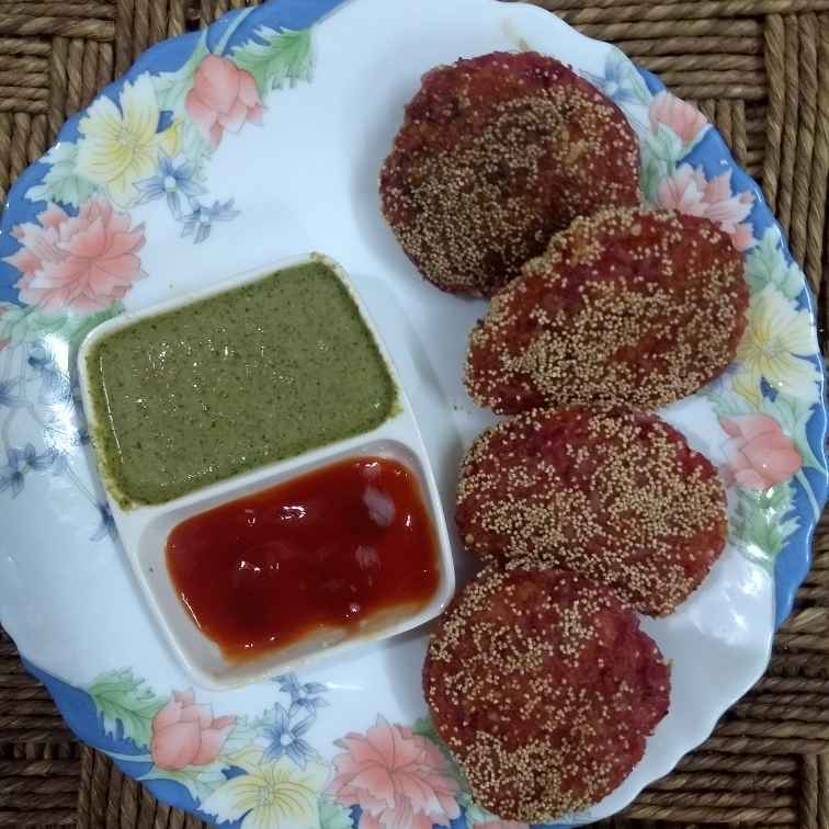 Photo of Rice betroot corn cutlets by Sheetal Palod at BetterButter