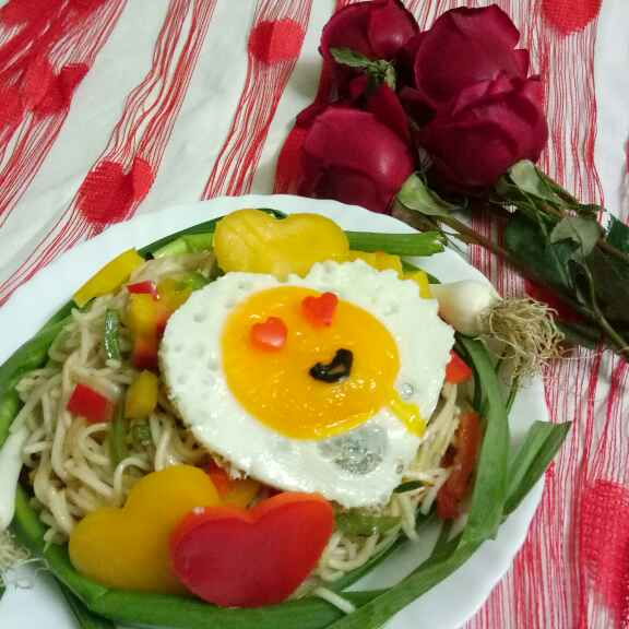 How to make Love Bite Garlic springs Noodles