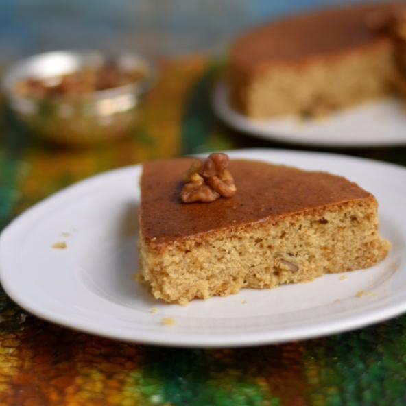 How to make Whole wheat walnut cake
