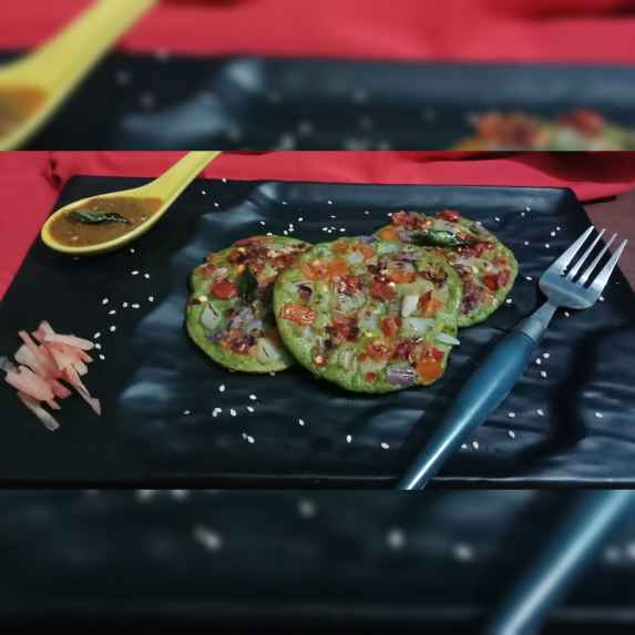 Photo of Palak and Moong dal uttapam by Shifali Gupta at BetterButter