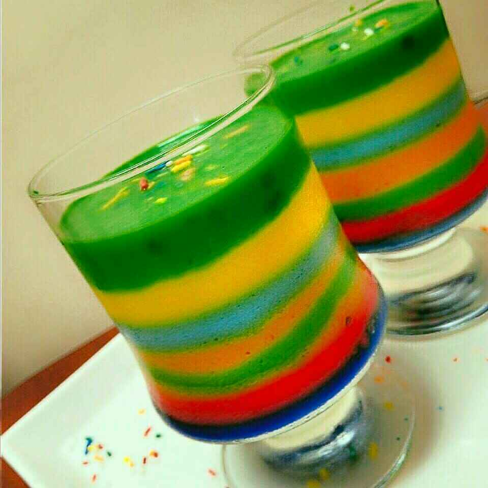 Photo of Vegan Rainbow Panna cotta by Shikha Gupta at BetterButter