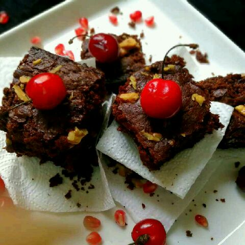 How to make Fudge chocolate brownies   no maida no egg.