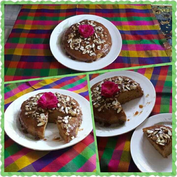 How to make #Eggless Nutty Caramel Cake
