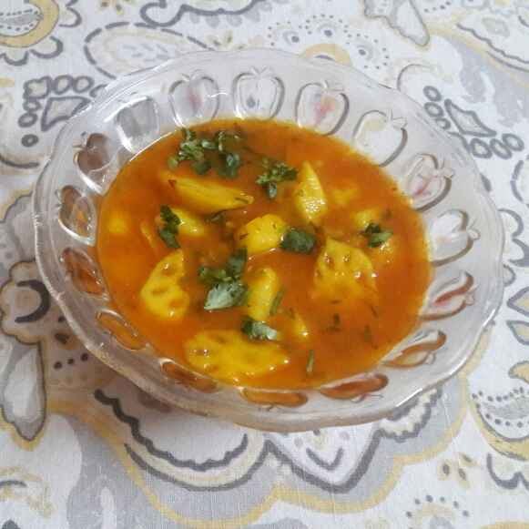 Photo of #Potato Lotus Stem Curry by Shilpa gupta at BetterButter