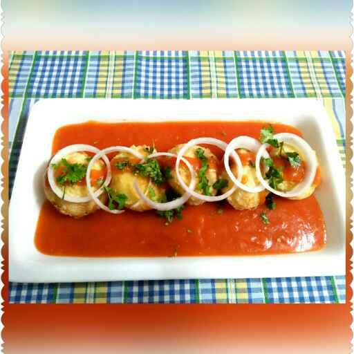 Photo of Aaloo matar patties in tomato gravy. by Shilpa gupta at BetterButter