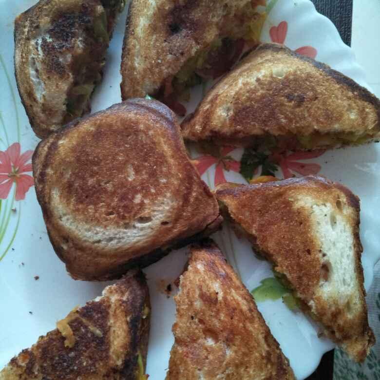 How to make वेज सेंडविच